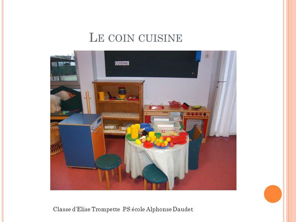 L E COIN CUISINE Classe dElise Trompette PS école Alphonse Daudet