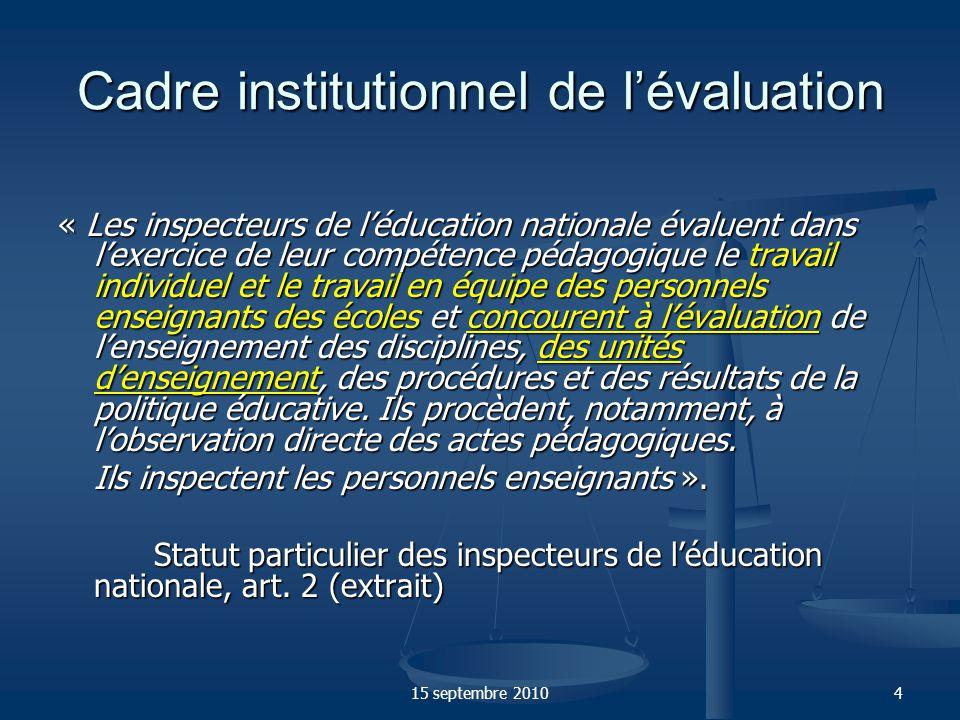 15 septembre 20105 Le professeur des écoles Le professeur des écoles est un fonctionnaire porteur des valeurs de la République.