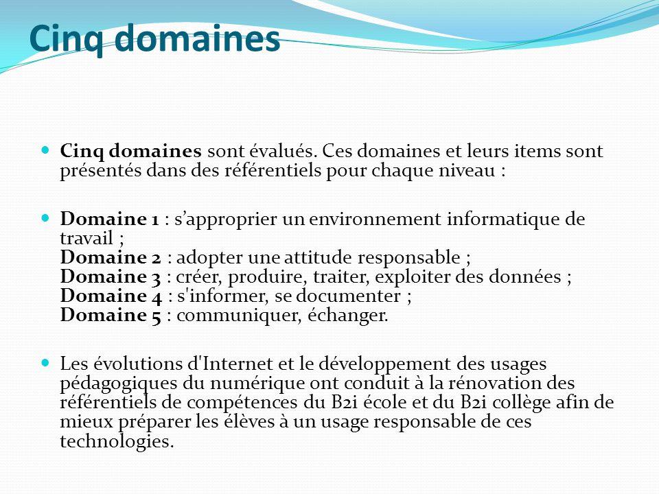 Domaine 5 : Communiquer, échanger Site Eduscol : Piste dactivités http://eduscol.education.fr/cid61105/comprendre- domaine.html Site Activitice (Tice IA13) : Domaine 5 http://www.activitice.ac-aix- marseille.fr/spip/spip.php?rubrique41 Site RDRI (Tice IA69) : Domaine 5 http://www2.ac-lyon.fr/services/rdri/b2i/domaine- 5.html
