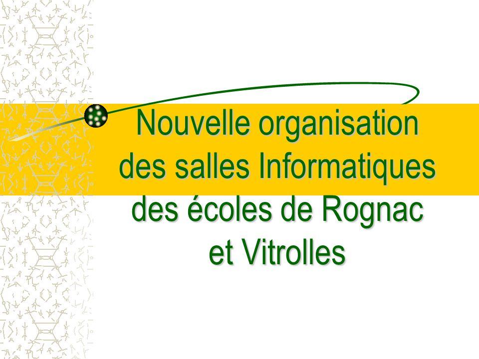 Nouvelle organisation des salles Informatiques des écoles de Rognac et Vitrolles
