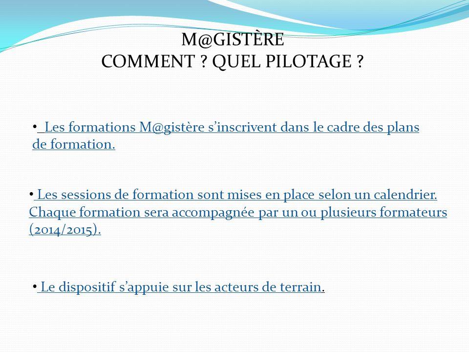 M@GISTÈRE COMMENT . QUEL PILOTAGE .