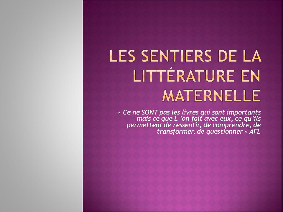 - les programmes de 2002 - les programmes de 2008 A la fin de lécole maternelle lenfant est capable de: - identifier les principales fonctions de lécrit - écouter et comprendre un texte lu par ladulte - connaître quelques textes du patrimoine, principalement des contes… LISTE_DE_ReFeRENCE_CYCLE_1_2013_272114.pdf LISTE_DE_REFERENCE_CYCLE_1_2013_272116.xls..\1 Litterature_programmes_cycle_1.pdf..\..\..\..\Programmes et IO\LangageMaternelle 2011.pdf