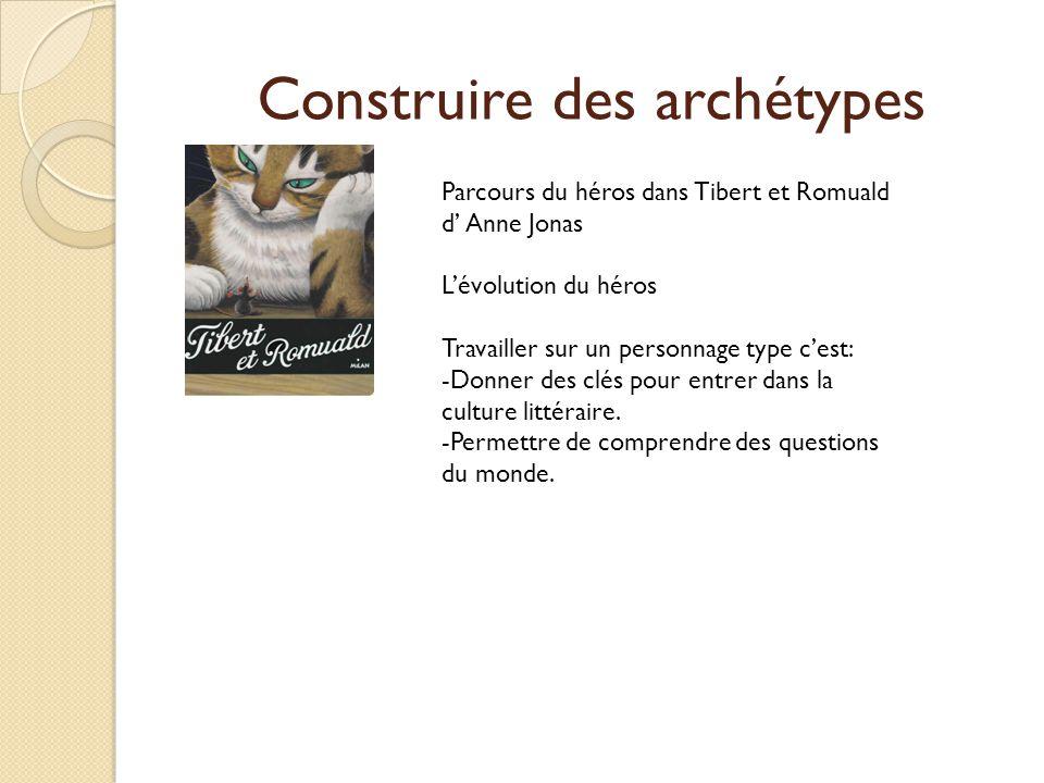 Construire des archétypes Parcours du héros dans Tibert et Romuald d Anne Jonas Lévolution du héros Travailler sur un personnage type cest: -Donner de