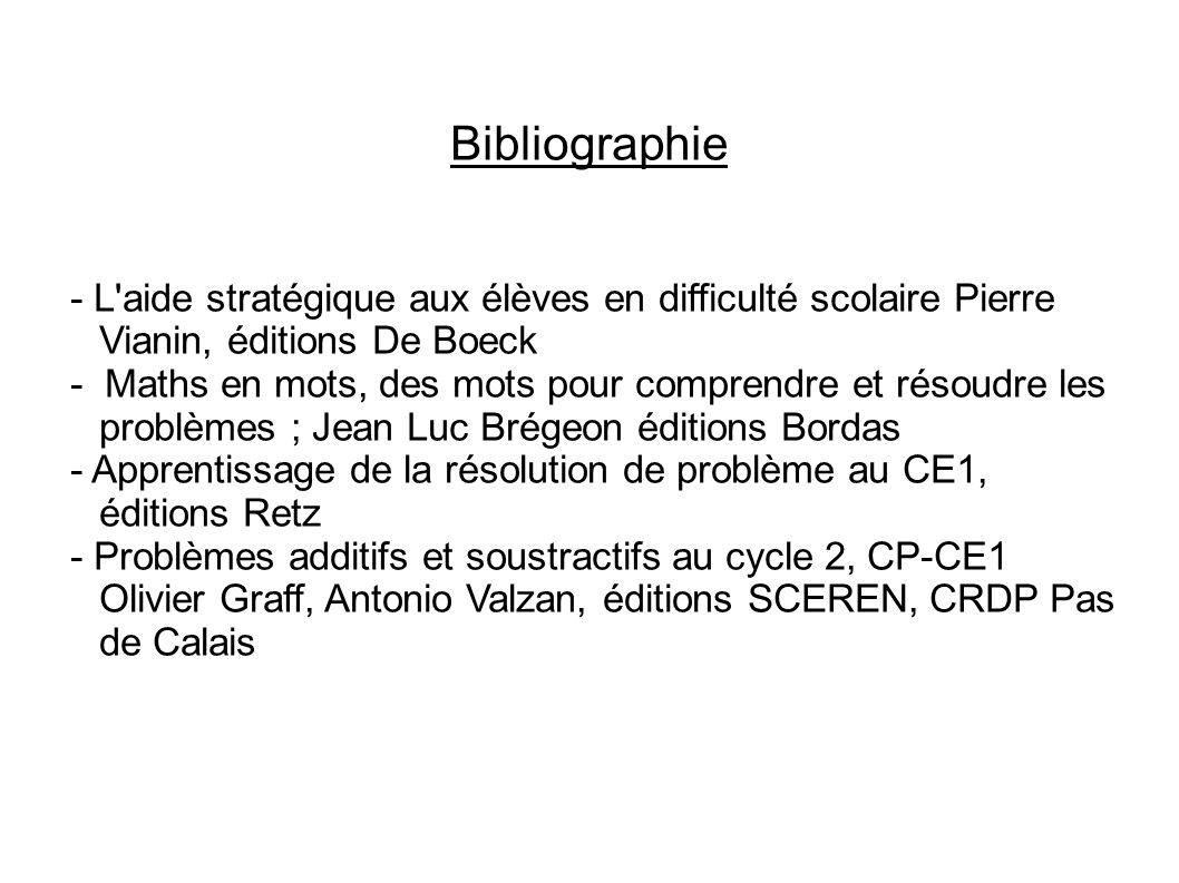 Bibliographie - L'aide stratégique aux élèves en difficulté scolaire Pierre Vianin, éditions De Boeck - Maths en mots, des mots pour comprendre et rés