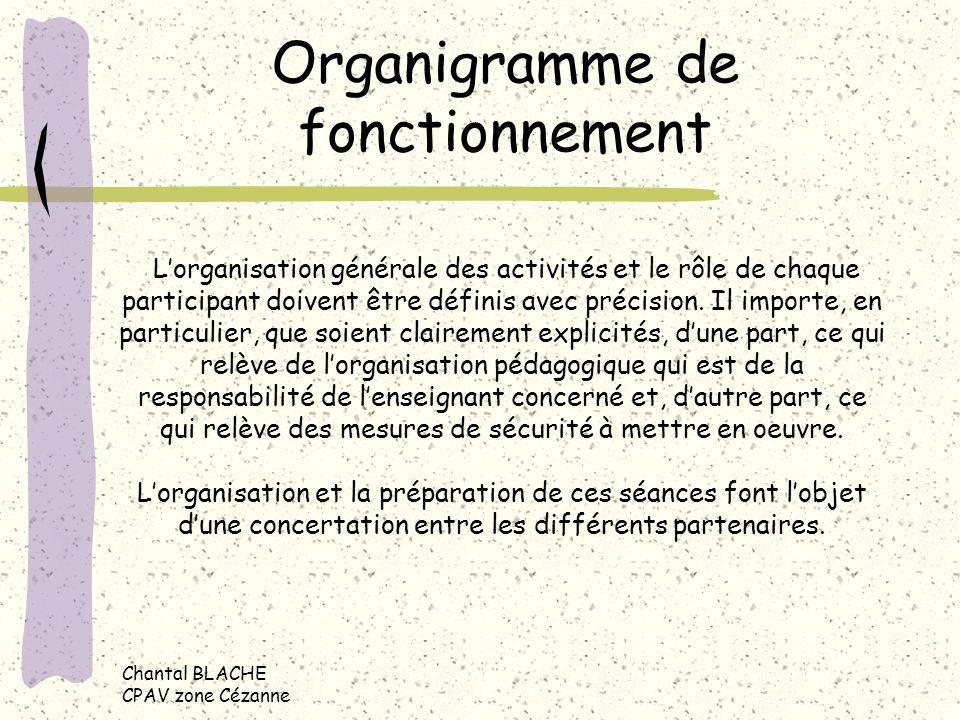 Organigramme de fonctionnement Lorganisation générale des activités et le rôle de chaque participant doivent être définis avec précision.