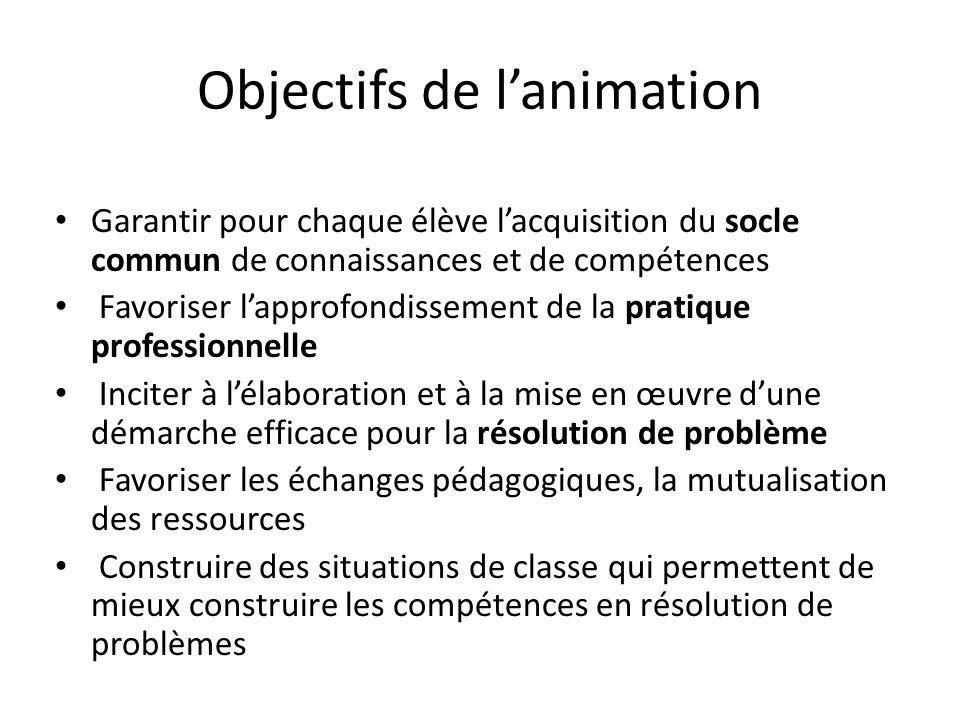 La résolution de problèmes au cycle 3 1 ère animation Pourquoi la résolution de problèmes.