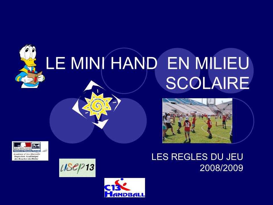 LE MINI HAND EN MILIEU SCOLAIRE LES REGLES DU JEU 2008/2009
