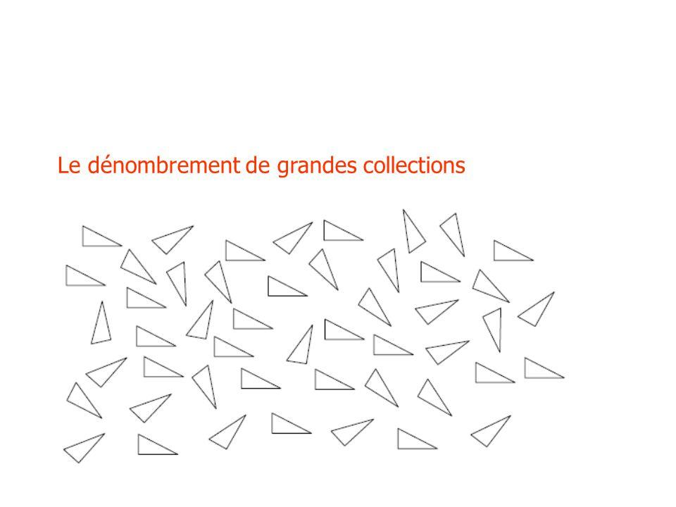 Le dénombrement de grandes collections