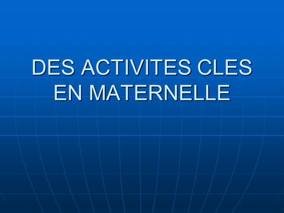 DES ACTIVITES CLES EN MATERNELLE