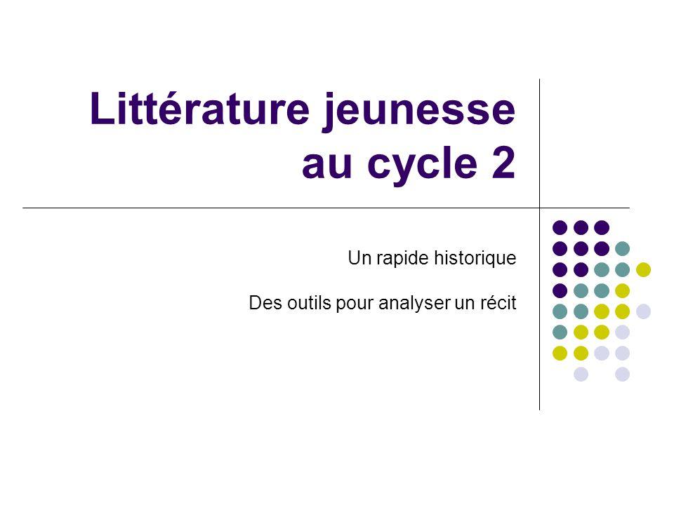 Littérature jeunesse au cycle 2 Un rapide historique Des outils pour analyser un récit