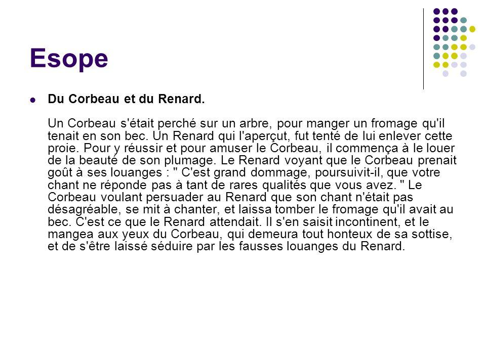 Esope Du Corbeau et du Renard.