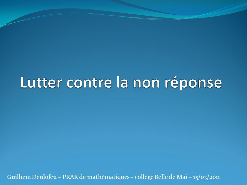 La non réponse : un mal français !!!!!.