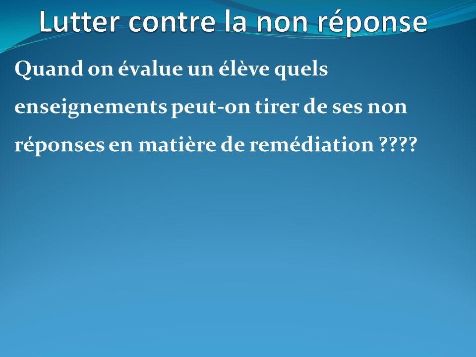 La non réponse dans notre RAR aux évaluation de 6 ème en français 16,12% de non réponses contre 6,51% au niveau académique, pour un taux de réussite de 49,73% contre 62,66% au niveau académique.