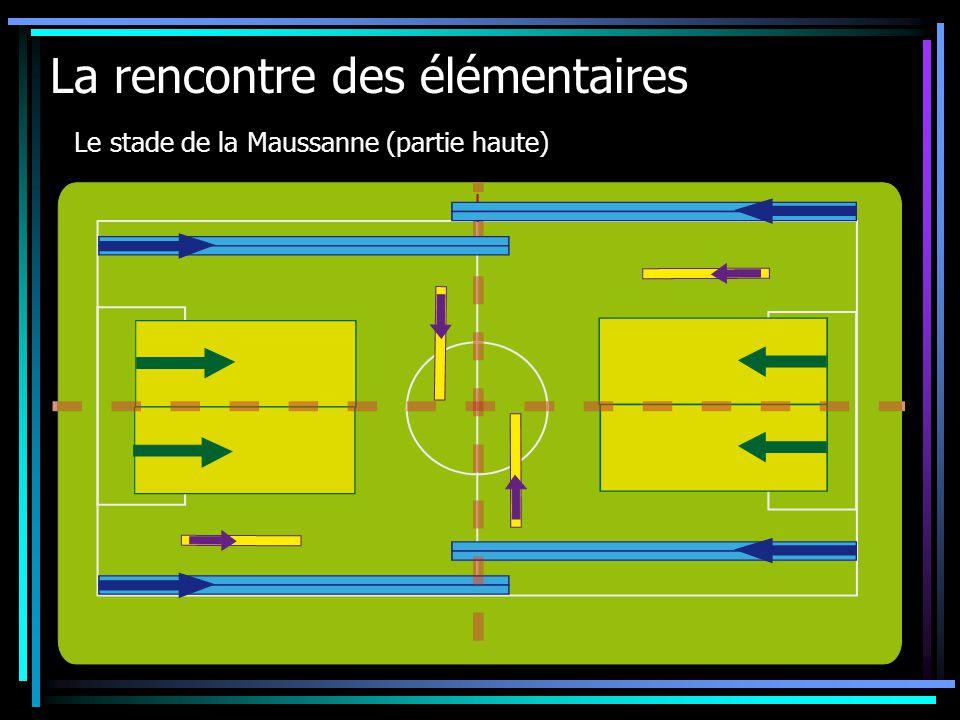 La rencontre des élémentaires Le stade de la Maussanne (partie haute)