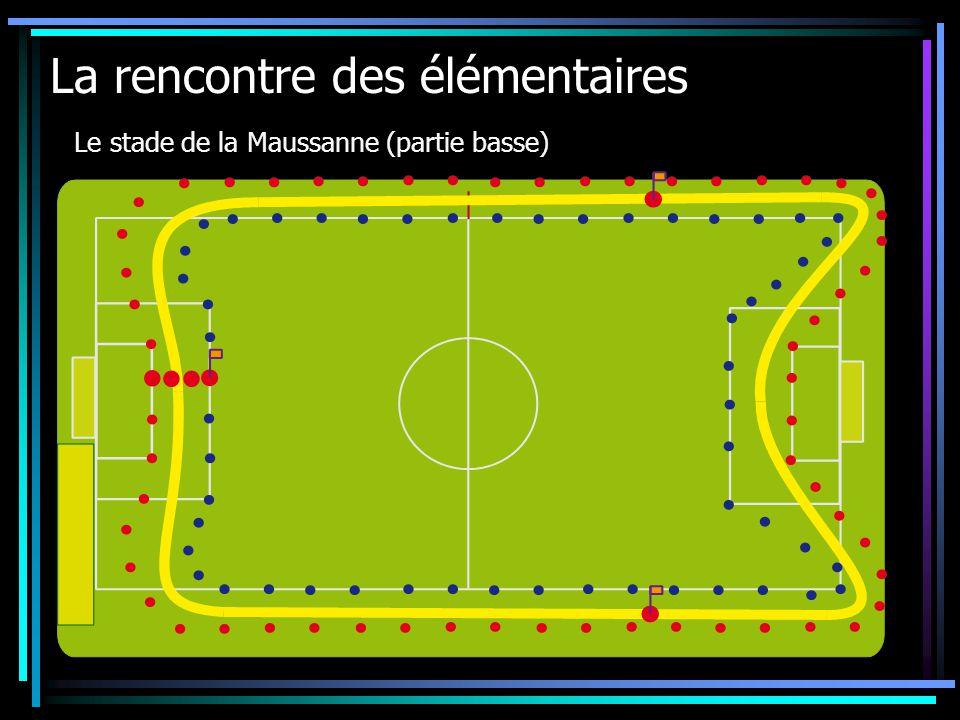 La rencontre des élémentaires Le stade de la Maussanne (partie basse)