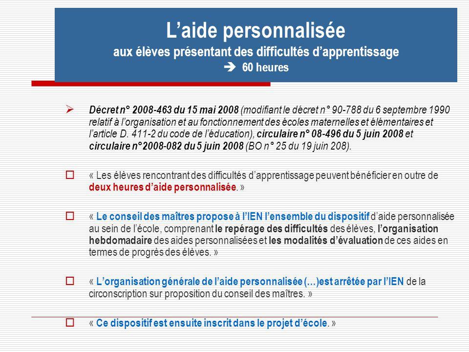 Décret n° 2008-463 du 15 mai 2008 (modifiant le décret n° 90-788 du 6 septembre 1990 relatif à lorganisation et au fonctionnement des écoles maternell