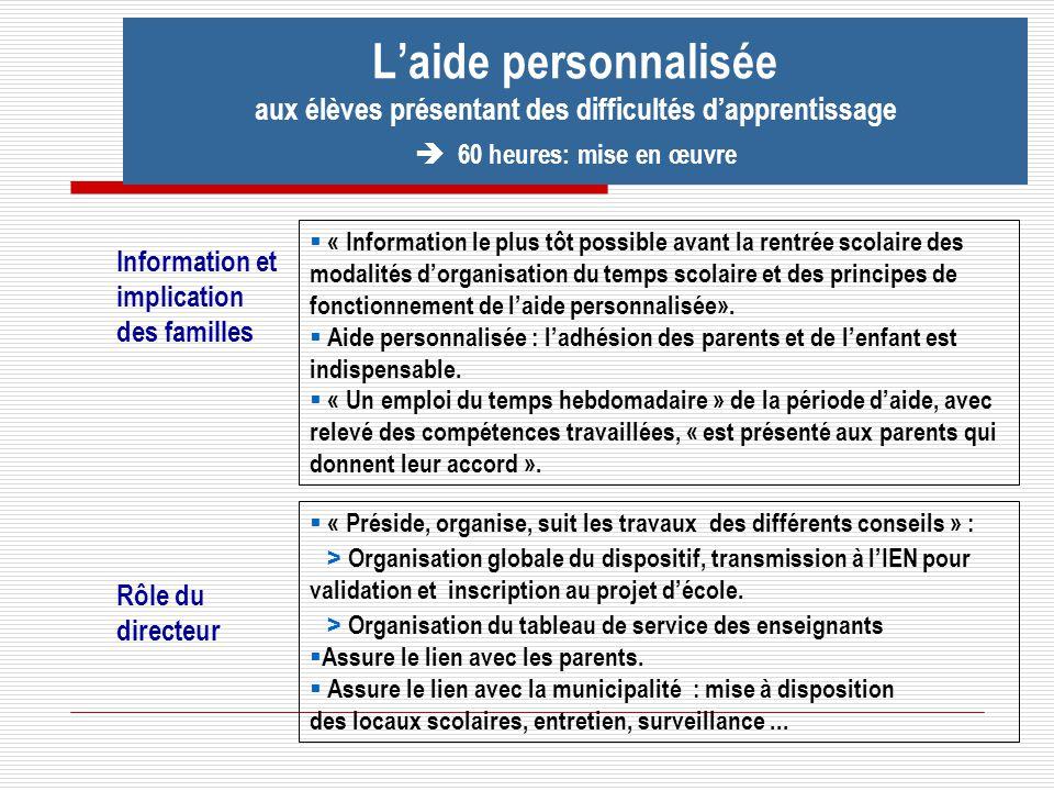 Rôle du directeur « Préside, organise, suit les travaux des différents conseils » : > Organisation globale du dispositif, transmission à lIEN pour val