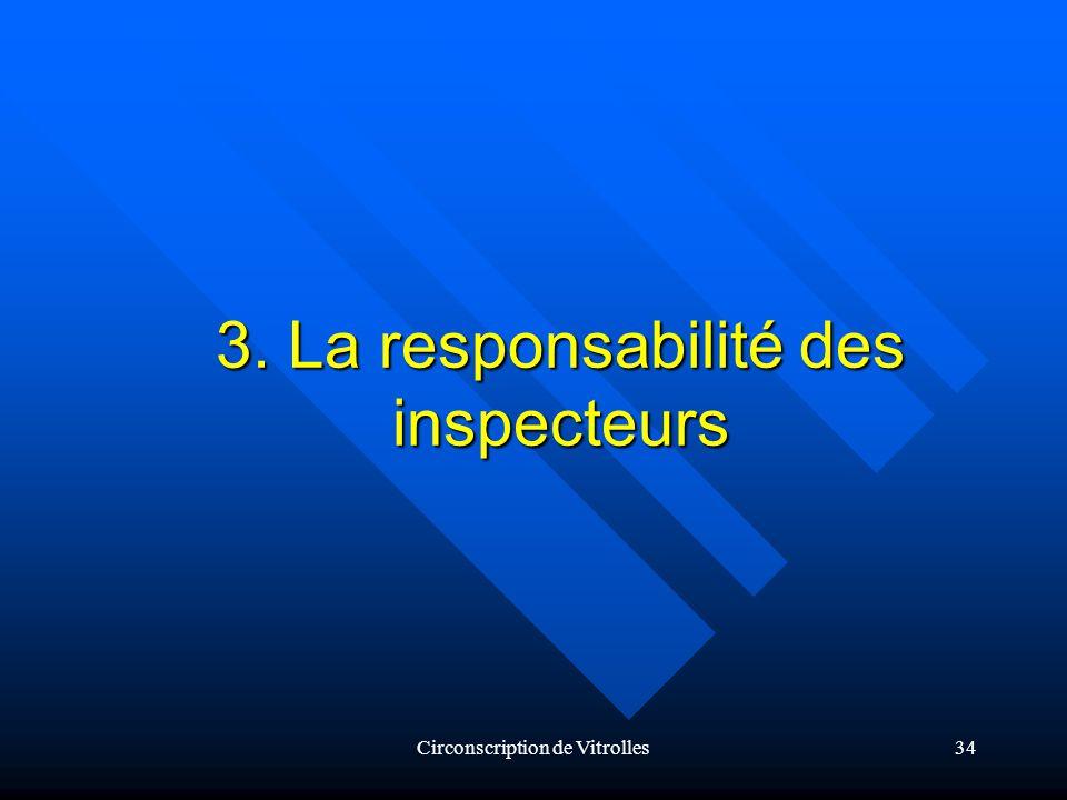 Circonscription de Vitrolles34 3. La responsabilité des inspecteurs