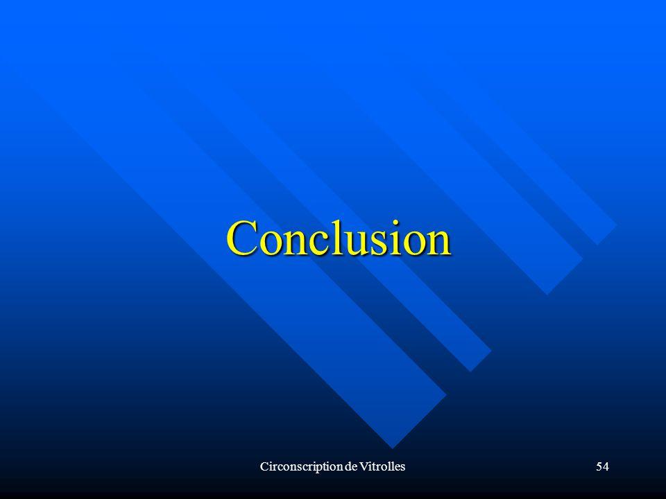 Circonscription de Vitrolles54 Conclusion