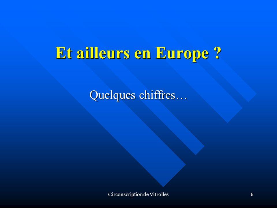 Circonscription de Vitrolles6 Et ailleurs en Europe ? Quelques chiffres…