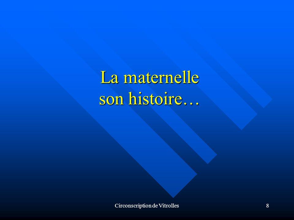 Circonscription de Vitrolles8 La maternelle son histoire…