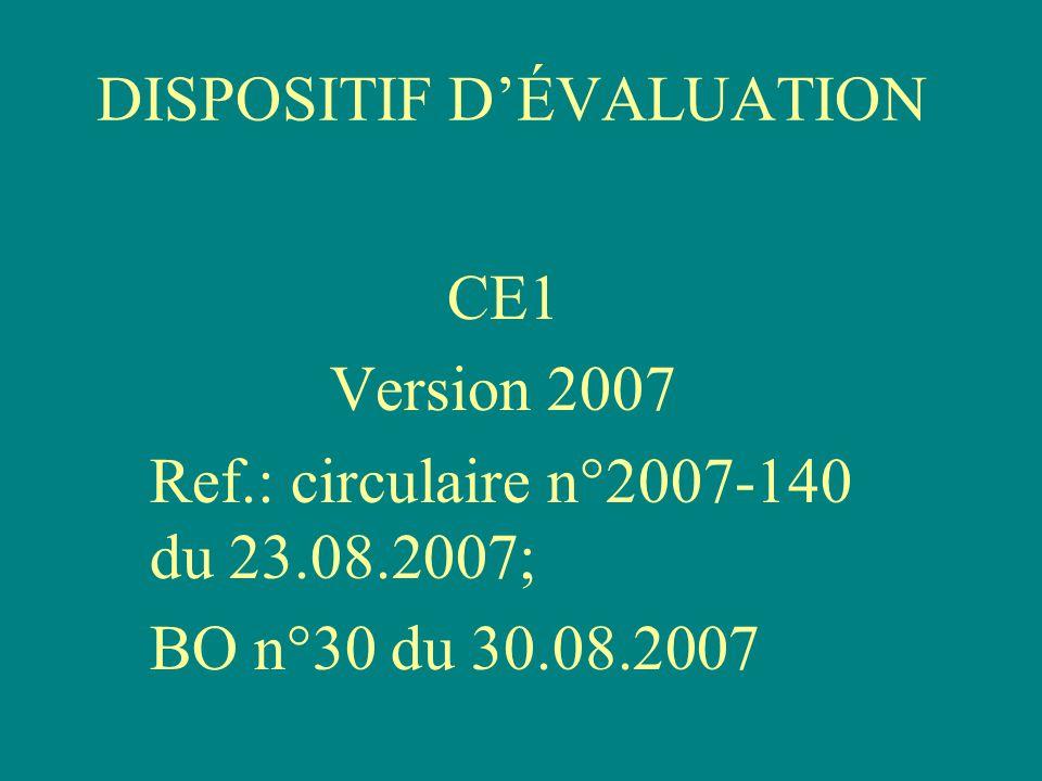 Spécificités du dispositif Le protocole concerne les élèves en début de CE1 avec une passation en 2 parties - fin septembre/début octobre.