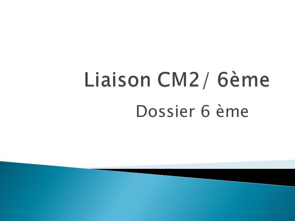 Dossier 6 ème