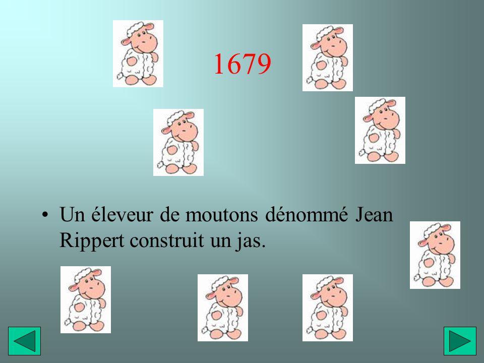 1679 Un éleveur de moutons dénommé Jean Rippert construit un jas.