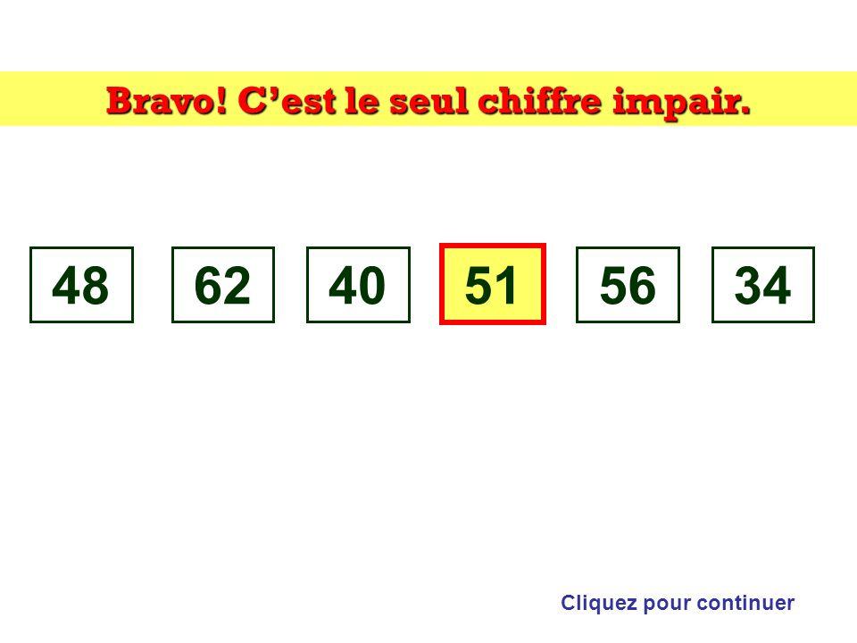 Trouvez lintrus: Cliquez sur lintrus 486240515634 Indice: parité
