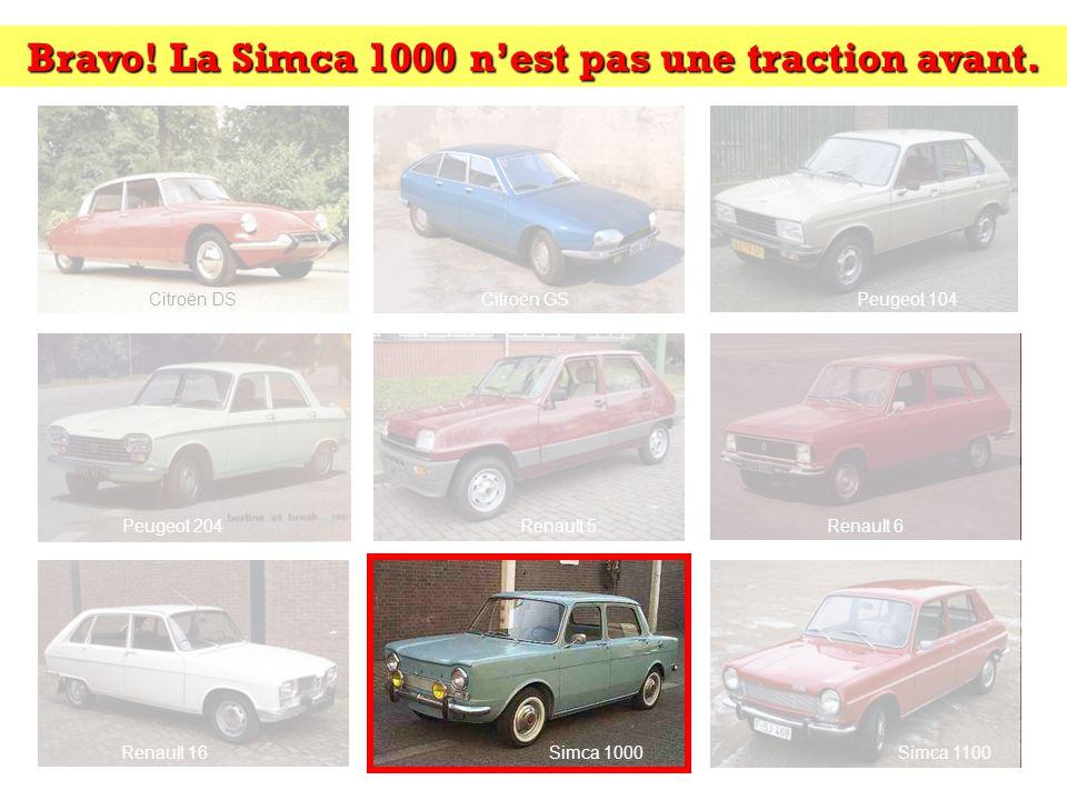 Trouvez lintrus: Cliquez sur lintrus Citroën DSCitroën GSPeugeot 104 Peugeot 204Renault 5Renault 6 Renault 16Simca 1000Simca 1100 Indice: transmission