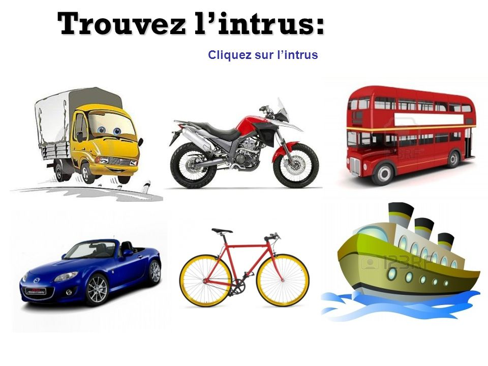 Trouvez lintrus: Cliquez sur lintrus