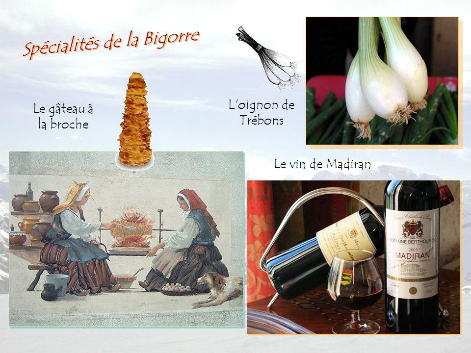L oignon de Trébons Le vin de Madiran Le gâteau à la broche Spécialités de la Bigorre
