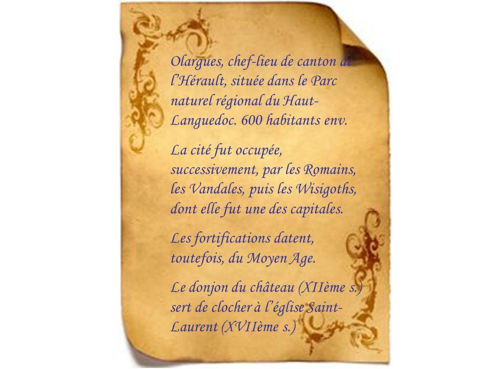 Olargues, chef-lieu de canton de lHérault, située dans le Parc naturel régional du Haut- Languedoc.