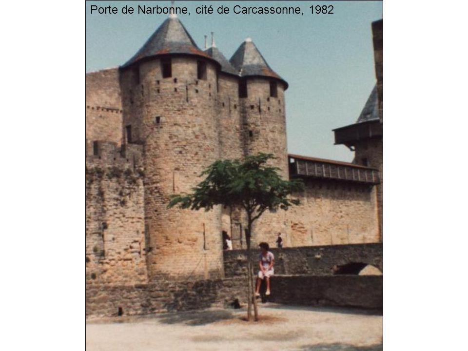 Porte de Narbonne, cité de Carcassonne, 1982