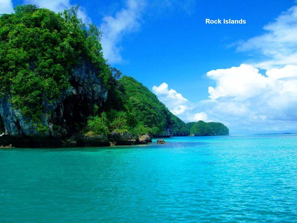 Vue aérienne de la République de Palau