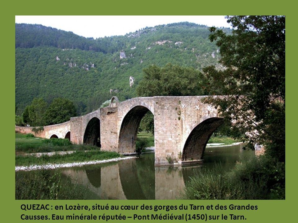 QUEZAC : en Lozère, situé au cœur des gorges du Tarn et des Grandes Causses.