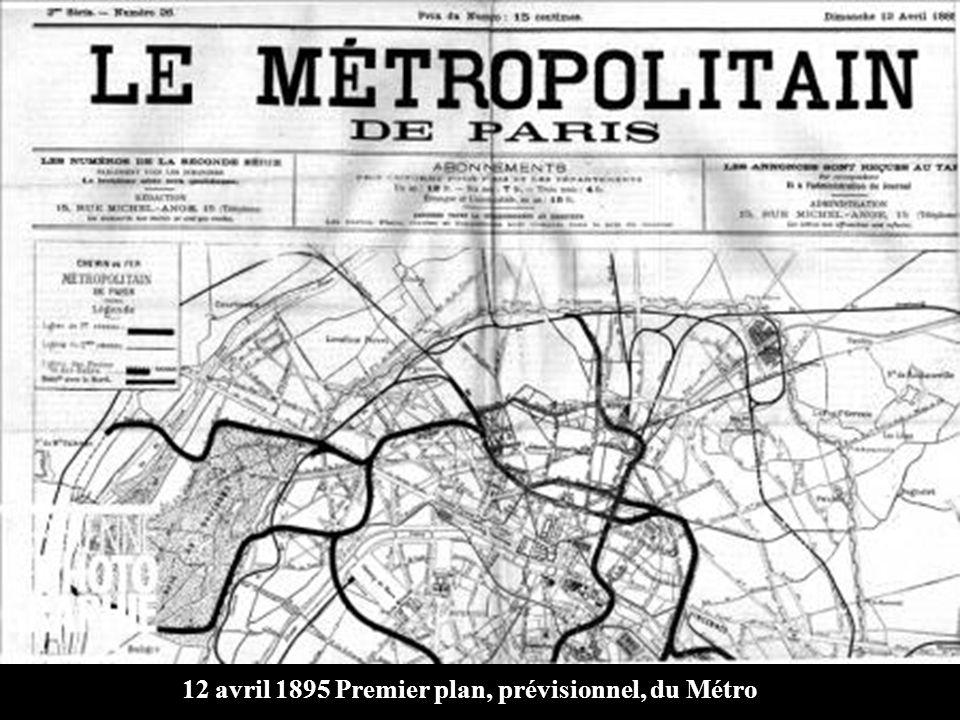 Construction du métropolitain à PARIS Chanson « LE TROU DE MON QUAI » écrite et interprétée par DRANEM enregistrement de 1906 Photos du net de J. Boye