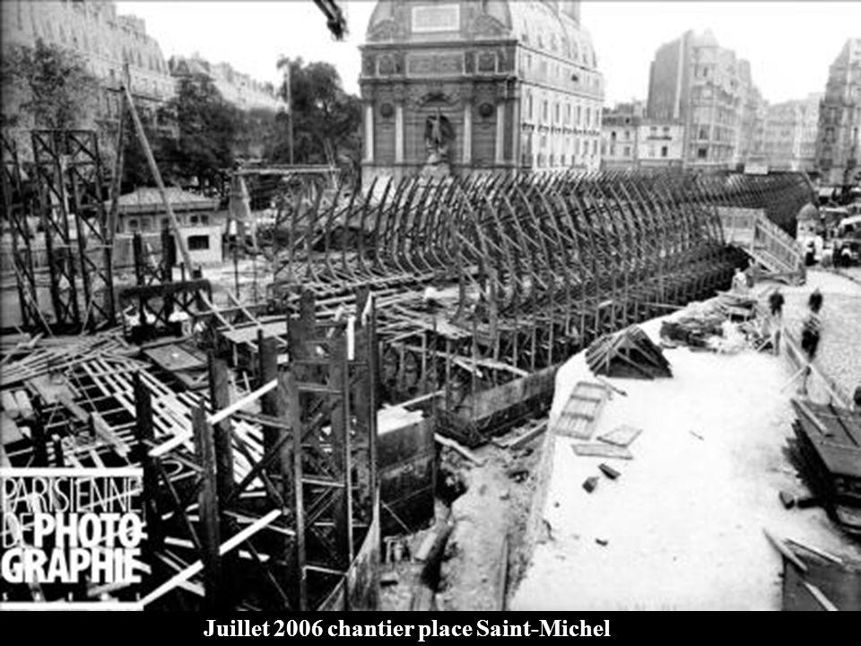 1900 - 1905 Assemblage du caisson pour la station St-Michel