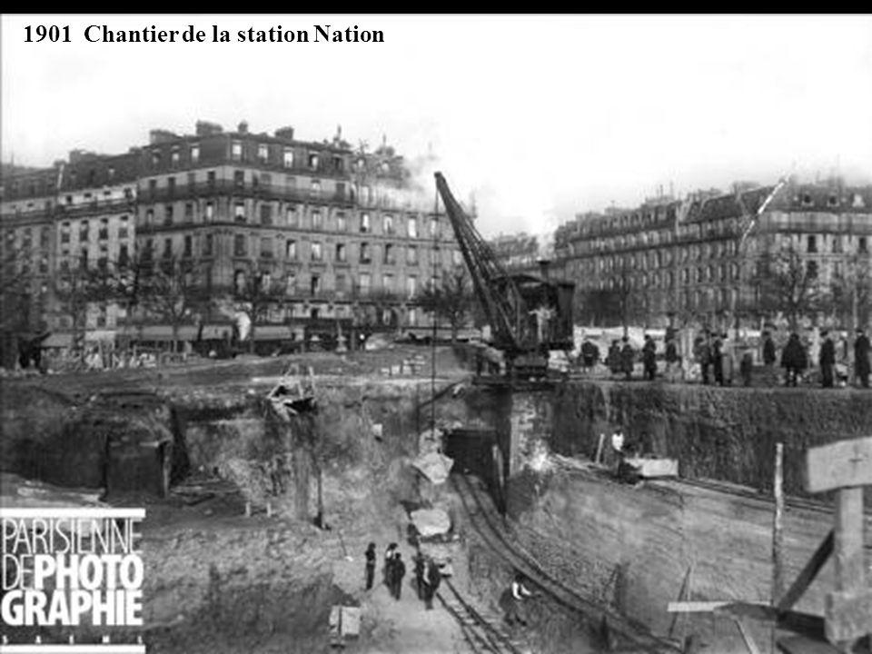 Décembre 1912, jonction avec laqueduc de lOurcq, direction Nation.