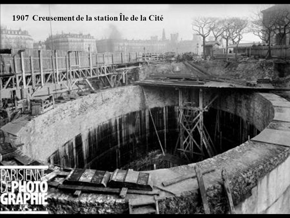 1906-1907 Congélation du petit bras de la Seine