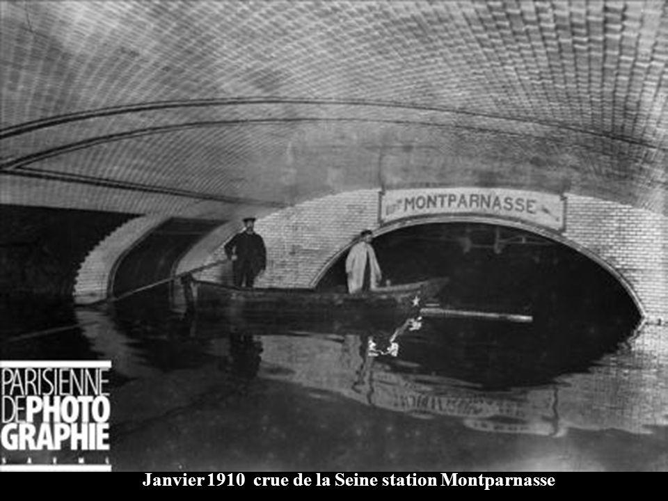 Janvier 1910 Crue de la Seine Station Gare de Lyon