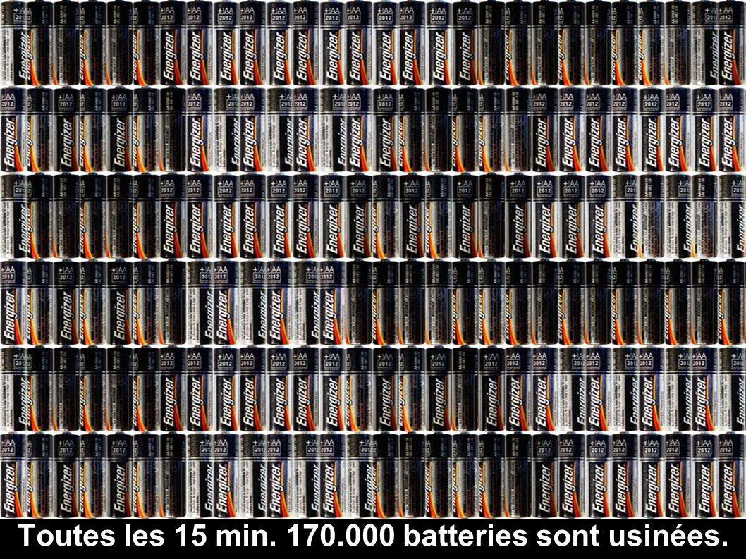 Toutes les 15 min. 170.000 batteries sont usinées.