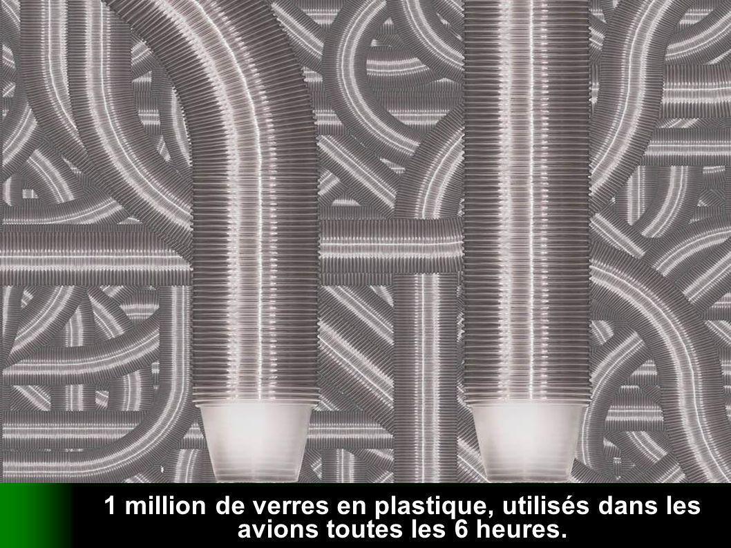 verteilt durch www.funmail2u.dewww.funmail2u.de 1 million de verres en plastique, utilisés dans les avions toutes les 6 heures.