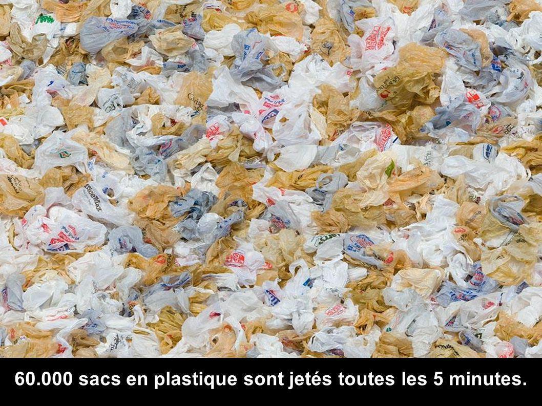 60.000 sacs en plastique sont jetés toutes les 5 minutes.