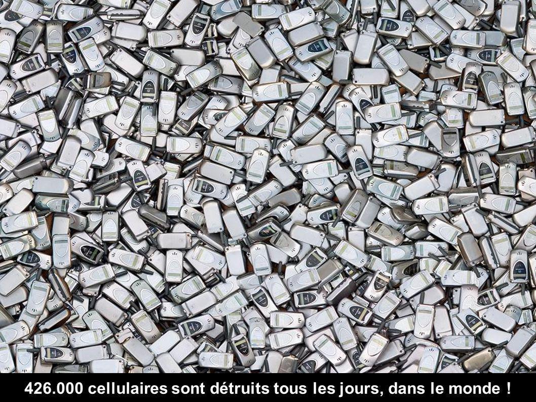 426.000 cellulaires sont détruits tous les jours, dans le monde !
