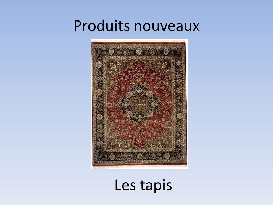 Produits nouveaux Les tapis