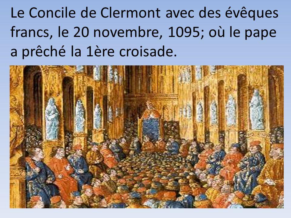 4- Le Pape Urbain II est venu en France prêcher une expédition en 1095 …………………….pour délivrer Jérusalem des musulmans.