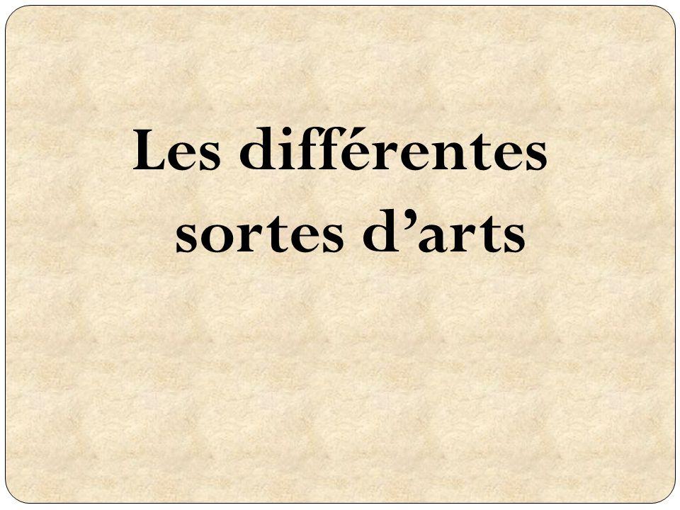 Les différentes sortes darts