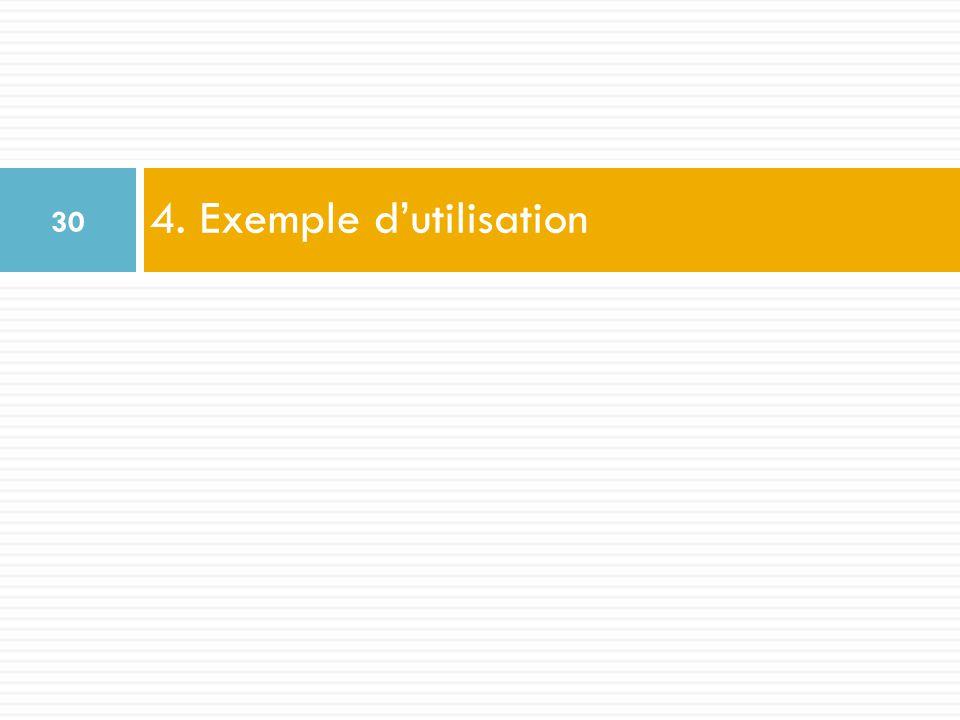 4. Exemple dutilisation 30