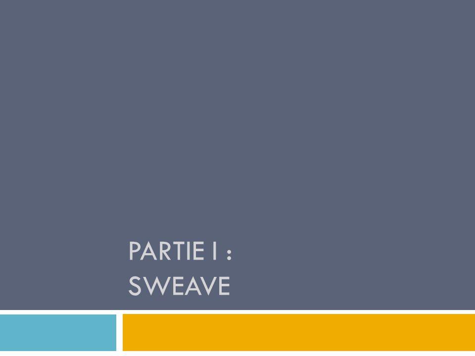 Apprentissage du langage Latex indispensable : investissement nécessaire Etape de compilation nest pas instantanée, on ne peut pas voir instantanément ce que lon code ( pas de WYSIWYG, what you see is what you get comme sur Word ou OOWriter) Difficulté dutiliser Sweave dans R ou dans R cmdr 15 Utilisation de R Sweave Présentation de Rsweave Présentation de Latex Discussion et limites